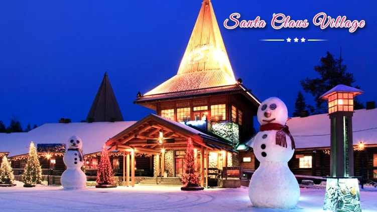 luxury santa claus village holiday tour packages